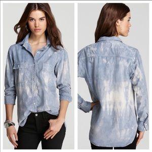 Rag & Bone tie dye bleach button down shirt